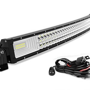 2 Year Warranty 30000LM Offroad Driving Fog Lamp Marine Boating Lights IP68 WATERPROOF Spot /& Flood Combo Beam LED Light Bar AUTO 4D 32 Inch Curved Led Work Light 300W with 8ft Wiring Harness Kit